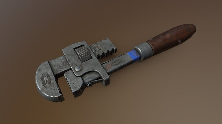 Texture Wrench 3D Model