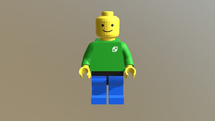 Lego Minifigure - Slightly Finer Robes 3D Model