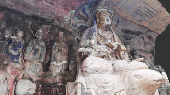 Dazu Rock Carvings (Model 8) 3D Model