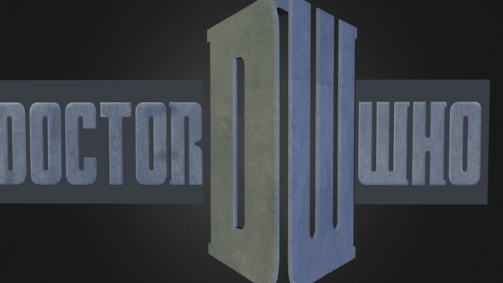 Doctor Who Logo 3D Model