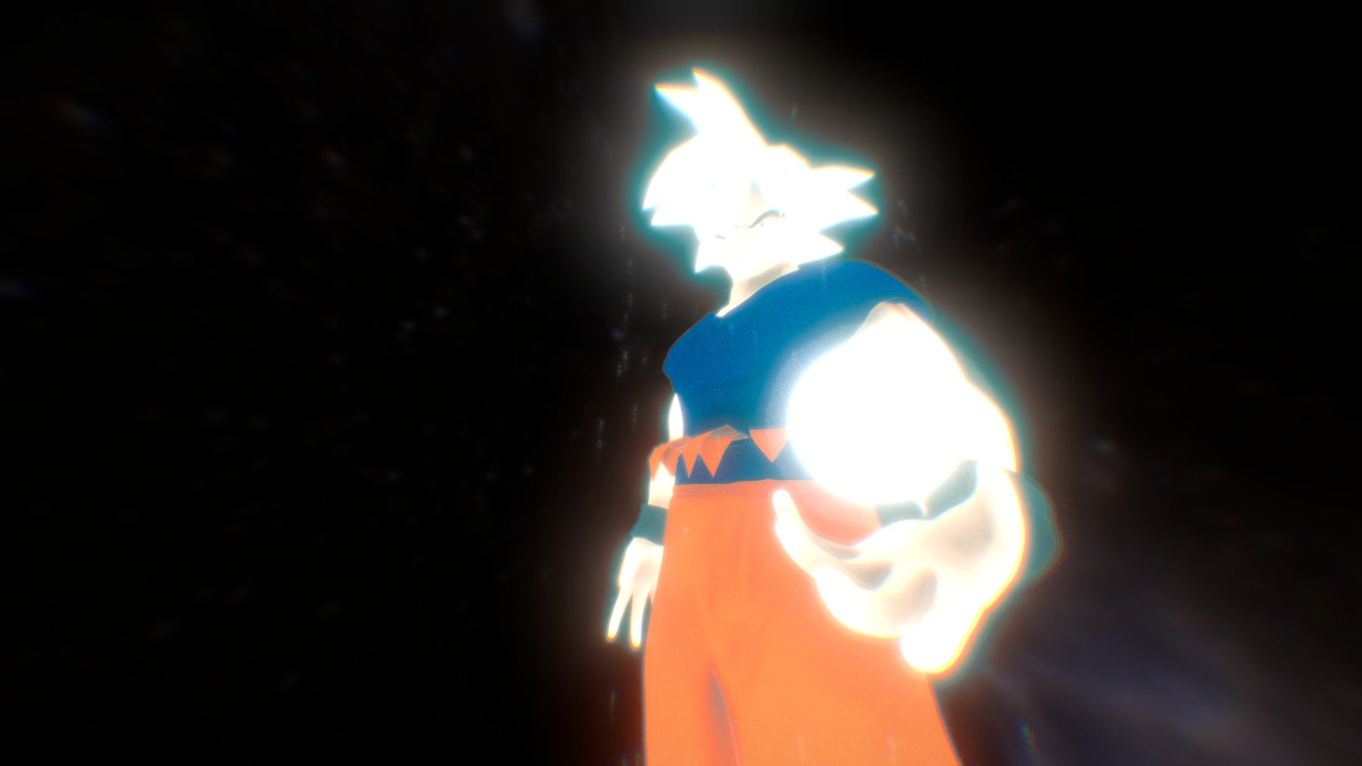 Mastered Ultra Instinct Goku Download Free 3d Model By