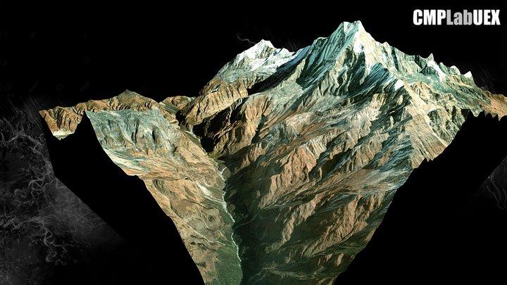 Pico Machapuchare, Annapurna, Nepal 3D Model