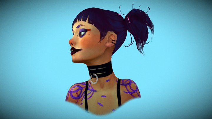 "Girl from ""The Witness"" (Love, Death & Robots) 3D Model"