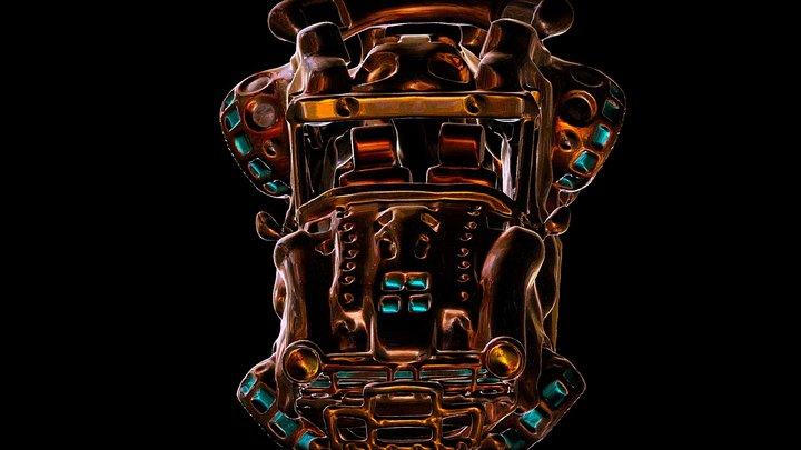 Steampunk cooper car . 3D Model