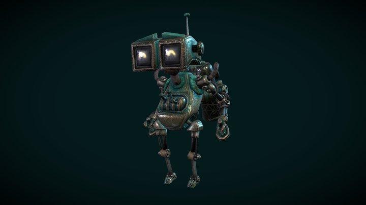 Brass Robot 3D Model