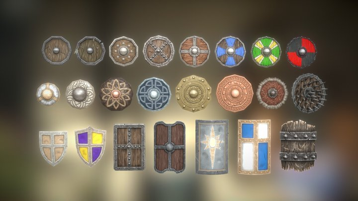 Fantasy Armory - Shield Collection Vol.1 3D Model
