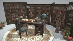 Haunted Library 3D Model