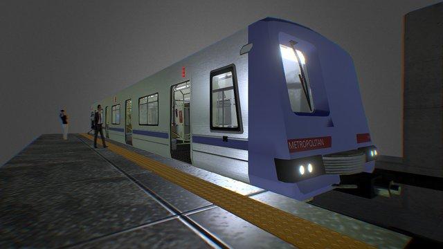 Metro on Station 3D Model