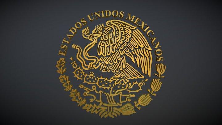 Escudo Nacional Mexicano 3D Model