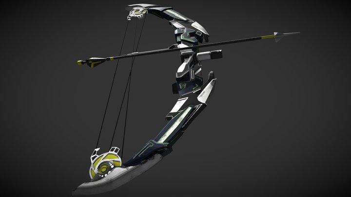 Razor Blade Bow 3D Model
