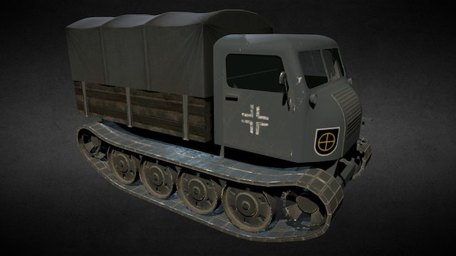RSO - Raupenschlepper Ost 3D Model
