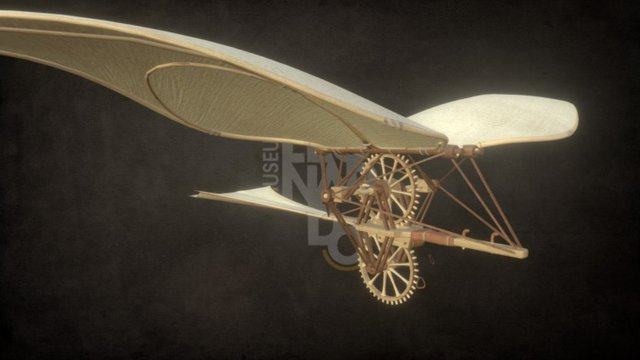 L3 Machines Collection - Flying Bicicle 3D Model