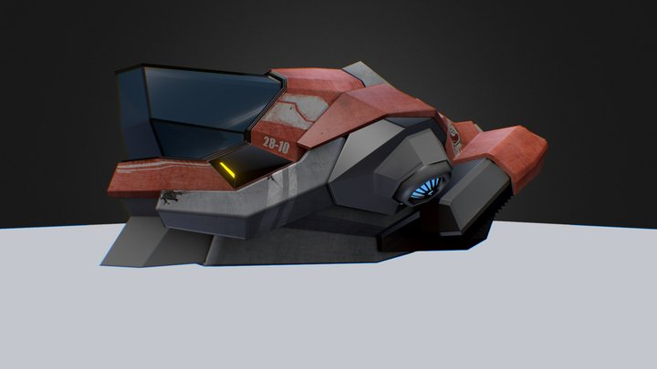 Kapal Angkut 1 U V 3D Model