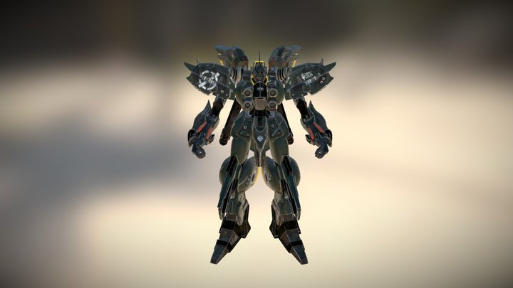 gundam NZ-666 ver KA Cosmos 3D Model