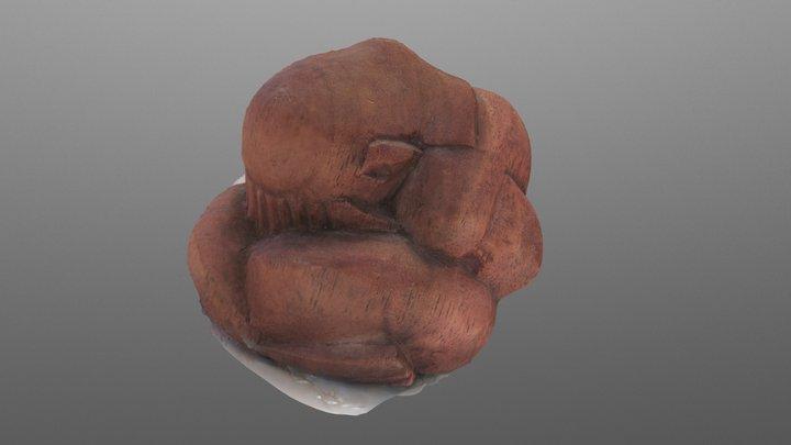 Grieving Man 3D Model