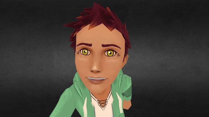 Boy Finnigon Lowpoly Gamecharacter 3D Model