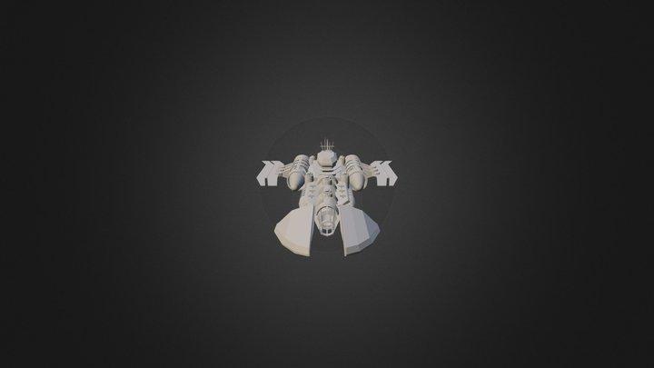 U.I.U. Ravager-Class Battlecruiser 3D Model
