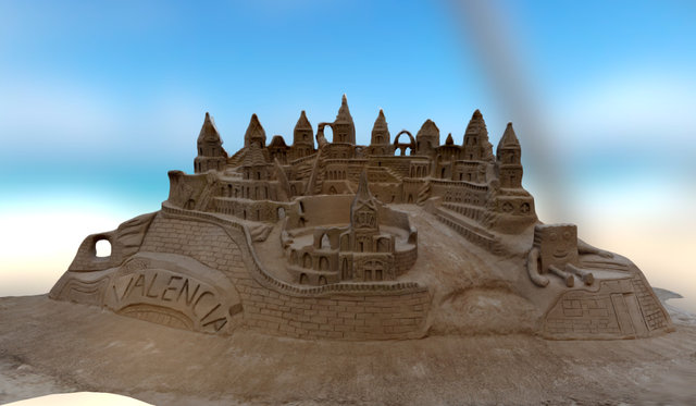 Sand Castle (Valencia) 3D Model