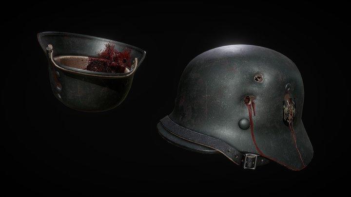 Dead Helmet (Wehrmacht M40 Helmet) 3D Model