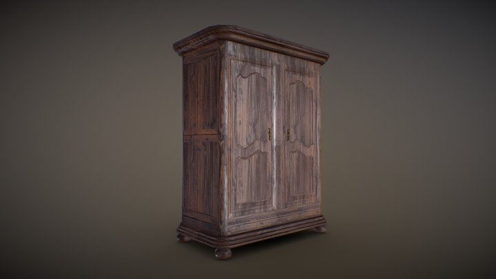 Armoire Texture Lowpoly 3D Model