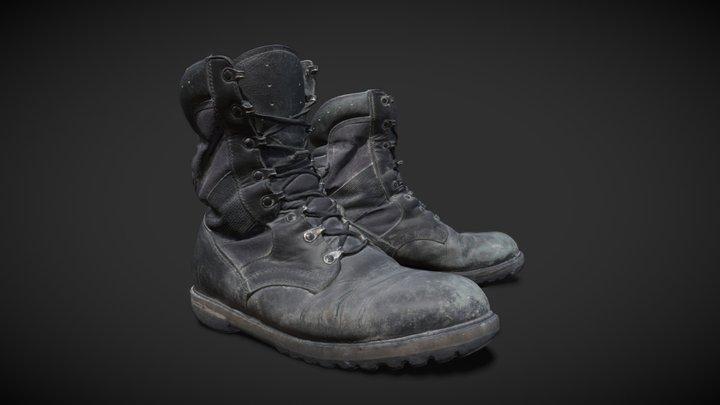 Worn boot 3D Model