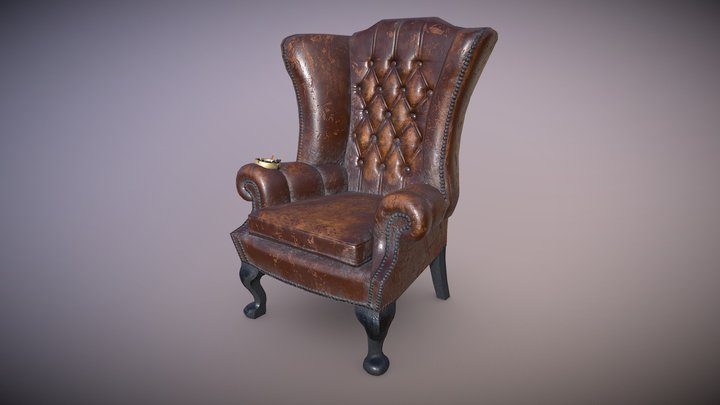 Grandpa's Armchair 3D Model