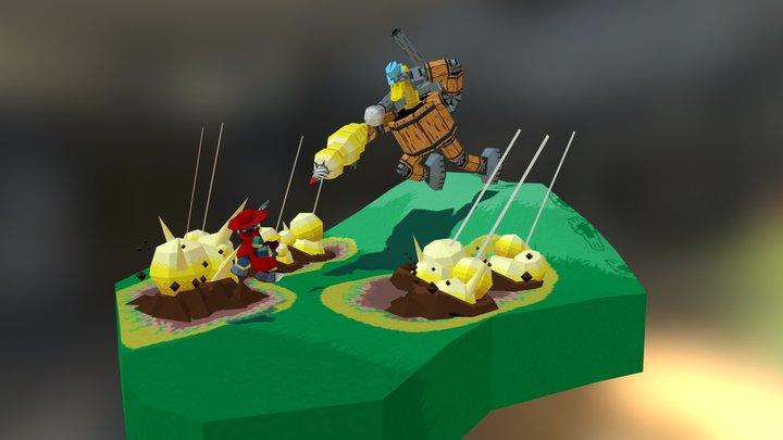 Unlikely Duel 3D Model