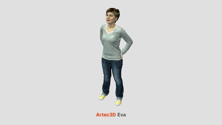 Full body scan - Blonde girl 3D Model