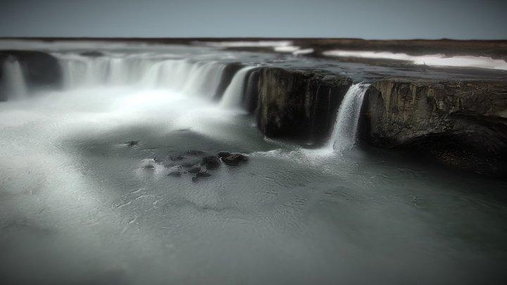 Goðafoss waterfall - Iceland 3D Model