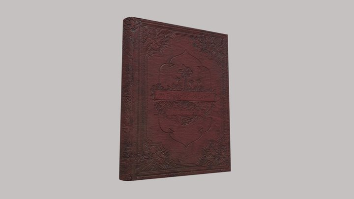 "Old Book "" The Coral Island "" 3D Model"