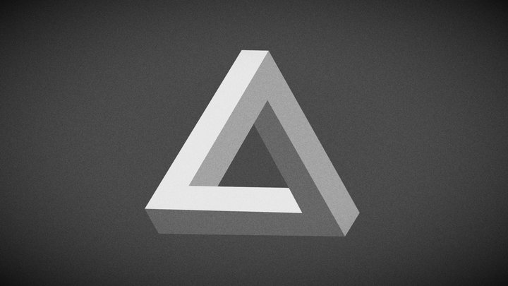 The Penrose triangle 3D Model