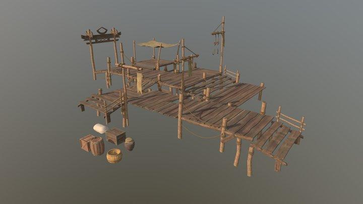 Ancient Wharf 3D Model