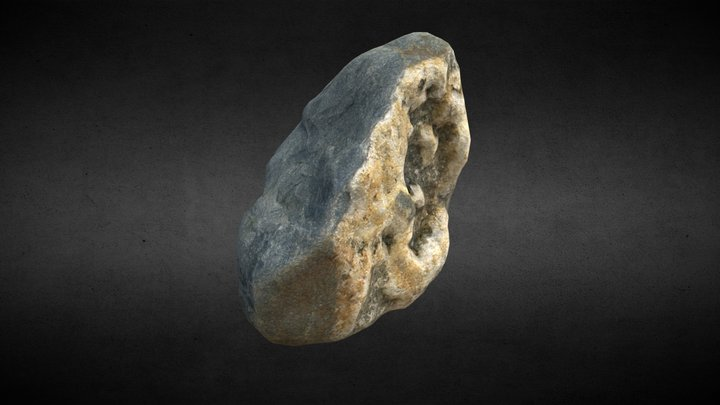 Small rock (Low-poly / Retopo) 3D Model