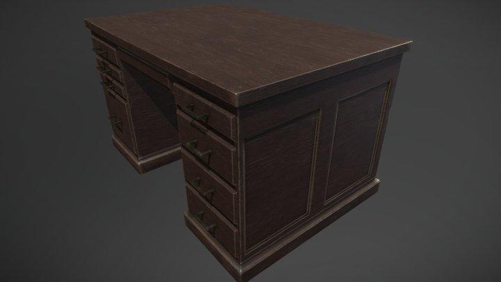 A vintage desk 3D Model