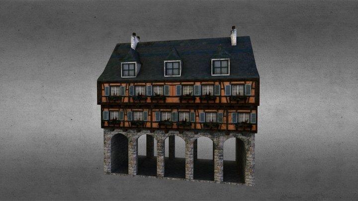 Medieval street arcade 3D Model