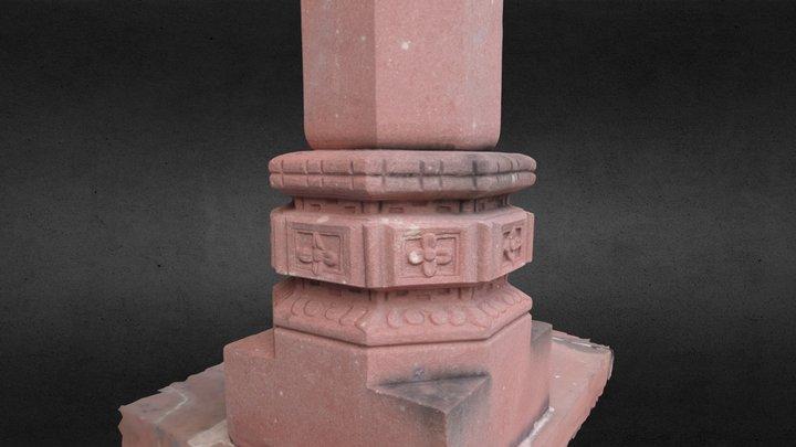 Column Base at Yeung Hau Temple in Ha Tsuen 3D Model