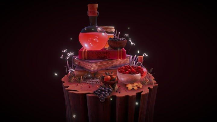Grammi's Berry Juice 3D Model