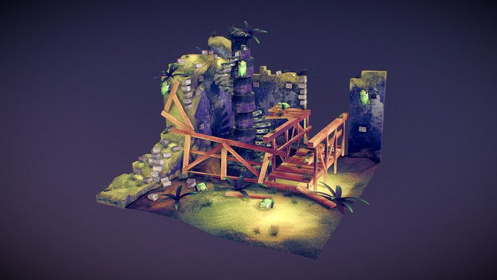 Valley Of Frogs Diorama (Justin Wallace AAU) 3D Model