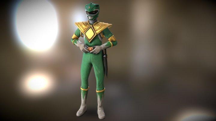 Green Power Ranger 3D Model