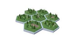 Hex World Woods 3D Model
