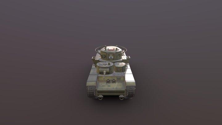 Tank T-35 3D Model