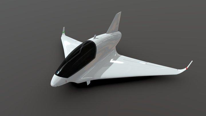 Personal eVTOL Jet concept 3D Model