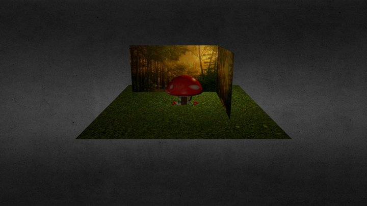 3D Mushroom House  3D Model