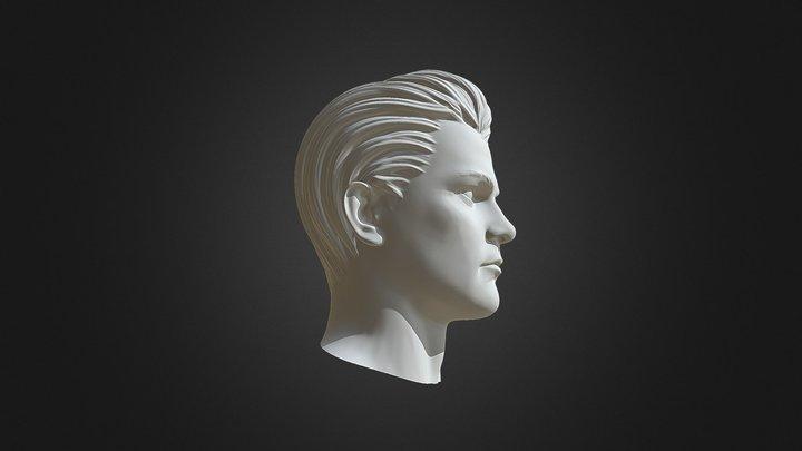 3D Print Ready Male Head 3D Model