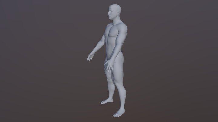 Jared's full body, for the Daniel 3D character 3D Model