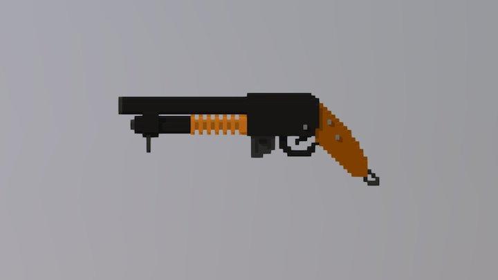 Shotgun A&K M870 Short 3D Model