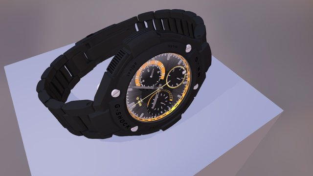 G shock watch 3D Model