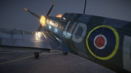 Spitfire Texturing Contest 3D Model