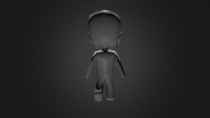 Chibi Hero Animate2 3D Model
