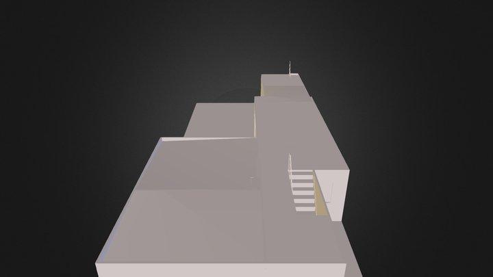 plattegrond huis met hoekkeuken 3D Model